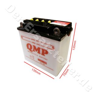 QMP Batterie Vergl-Nr: 12N7-3B 137x76x135mm