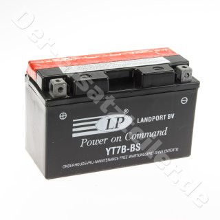 YT7B-BS (YT7B-4) 12V/6,5AH  DIN50791 Landport BATTERIE 150x65x93mm