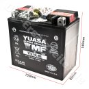 YTX14L-BS DIN51214 12V/12AH Batterie 150x87x145mm